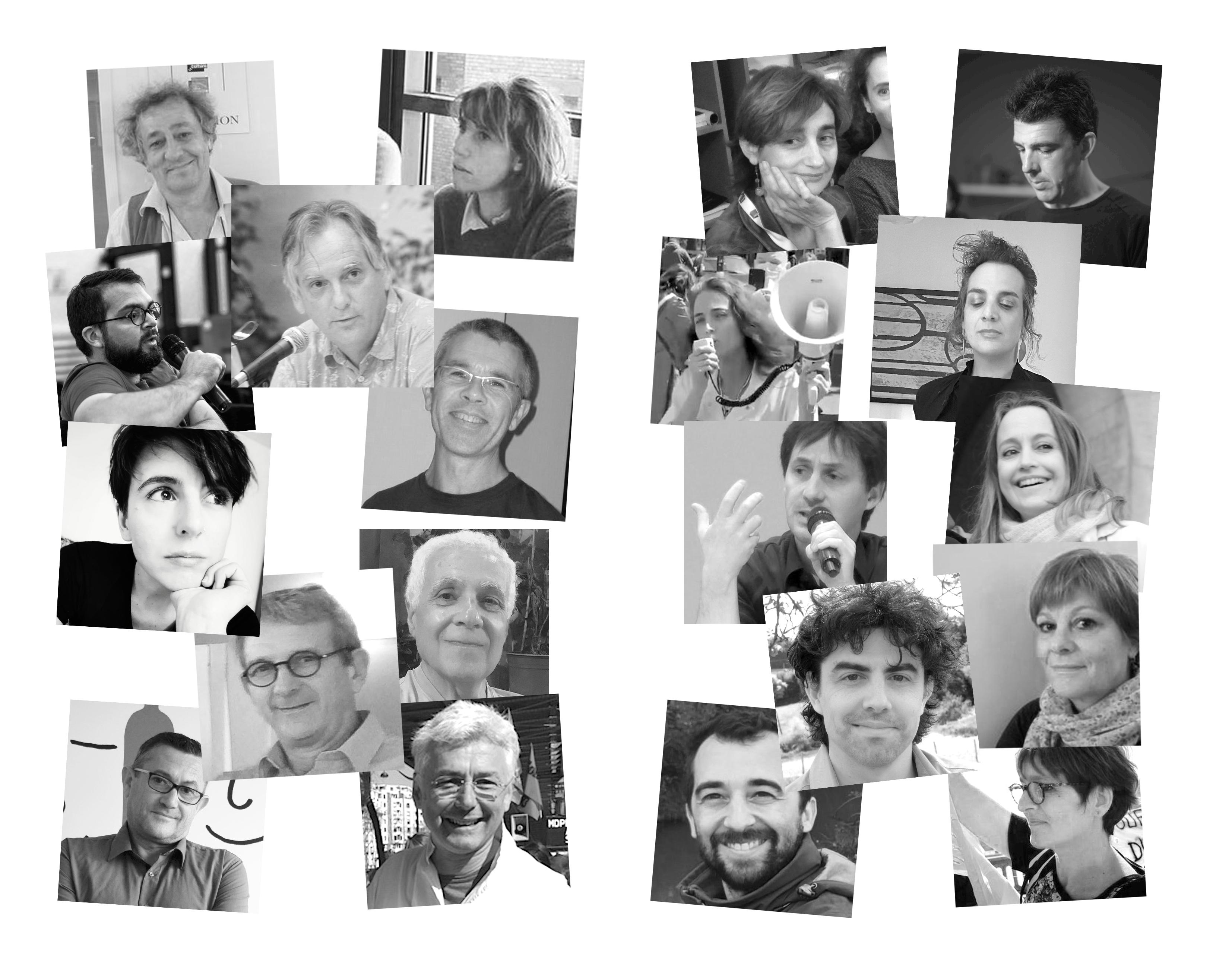 Mosaique des auteurs et autrices composant Les Furtifs